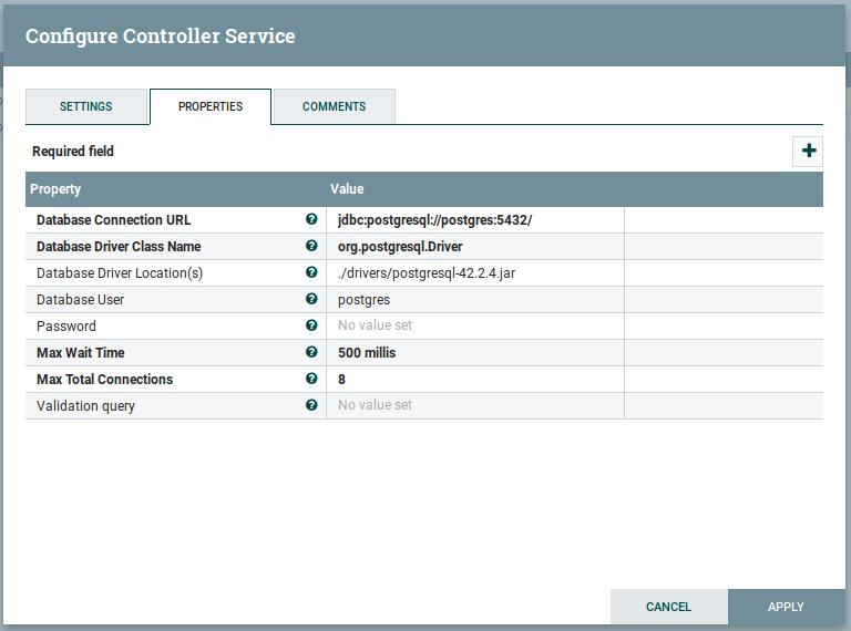 Controllers configuration - fiware-draco